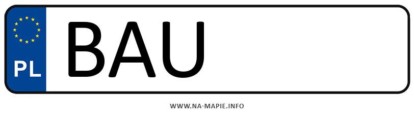 Rejestracja BAU, miasto Augustów