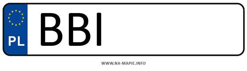 Rejestracja BBI, miasto Bielsk Podlaski