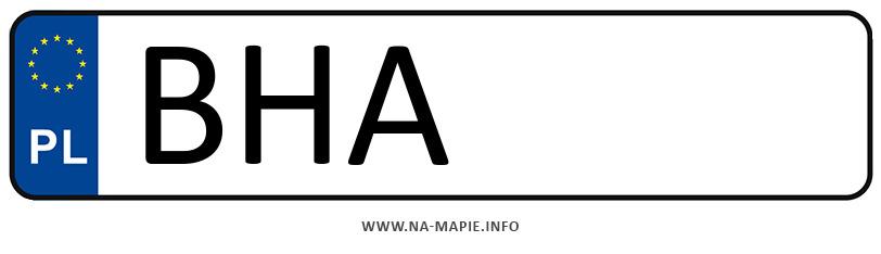Rejestracja BHA, miasto Hajnówka