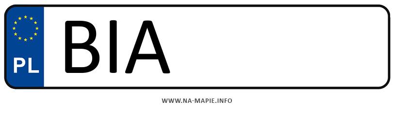 Rejestracja BIA, miasto Białystok powiat