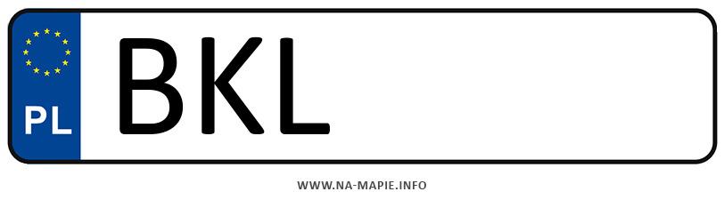 Rejestracja BKL, miasto Kolno