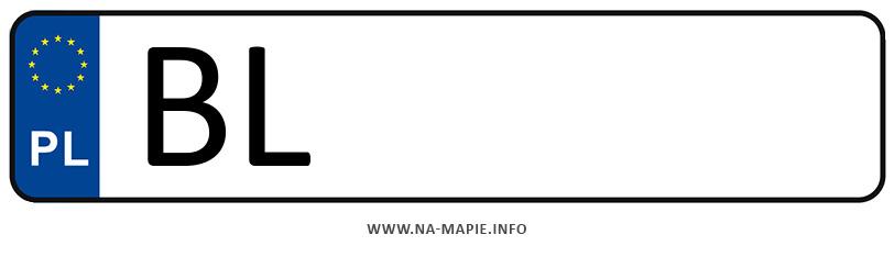 Rejestracja BL, miasto Łomża