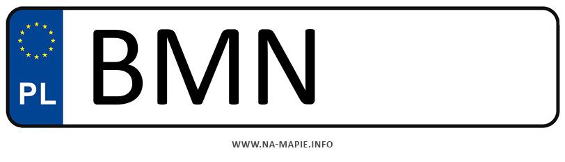 Rejestracja BMN, miasto Mońki