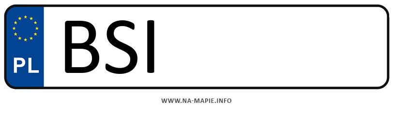 Rejestracja BSI, miasto Siemiatycze