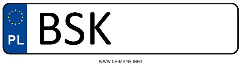 Rejestracja BSK, miasto Sokółka