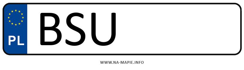 Rejestracja BSU, miasto Suwałki powiat