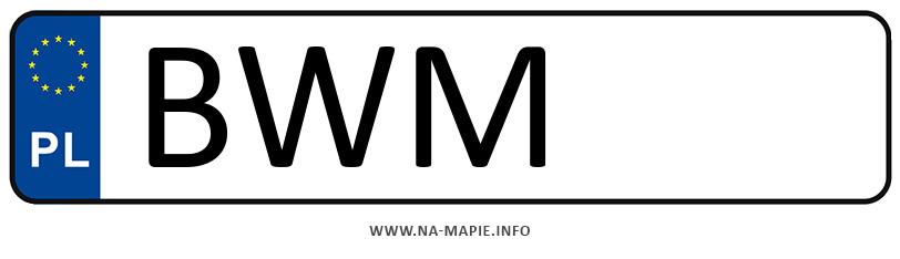 Rejestracja BWM, miasto Wysokie Mazowieckie
