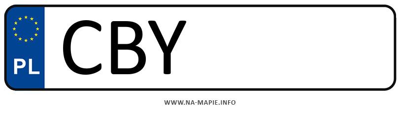 Rejestracja CBY, miasto Bydgoszcz powiat