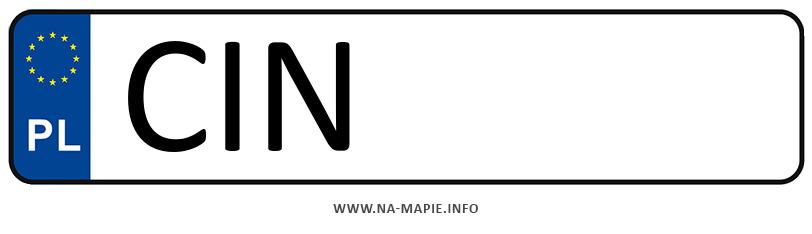 Rejestracja CIN, miasto Inowrocław