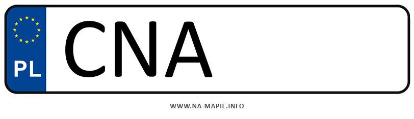 Rejestracja CNA, miasto Nakło nad Notecią
