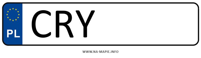 Rejestracja CRY, miasto Rypin