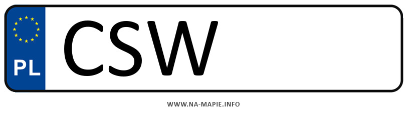 Rejestracja CSW, miasto Świecie