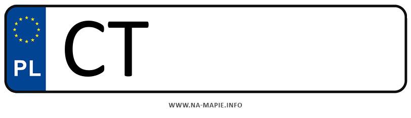 Rejestracja CT, miasto Toruń