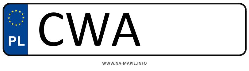 Rejestracja CWA, miasto Wąbrzeźno