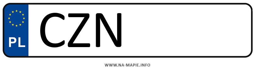 Rejestracja CZN, miasto Żnin