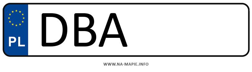 Rejestracja DBA, miasto Wałbrzych powiat