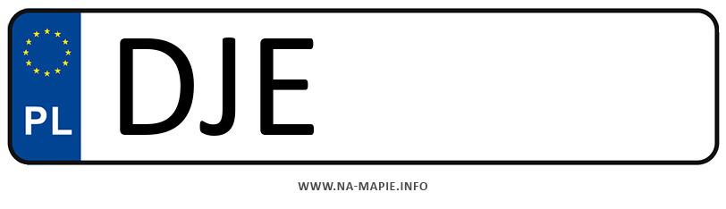 Rejestracja DJE, miasto Jelenia Góra powiat