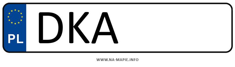 Rejestracja DKA, miasto Kamienna Góra
