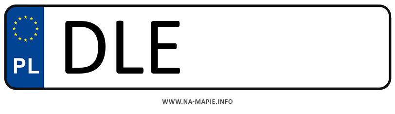 Rejestracja DLE, miasto Legnica powiat