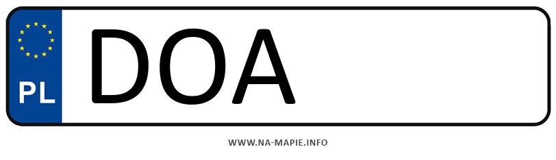 Rejestracja DOA, miasto Oława