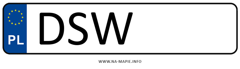 Rejestracja DSW, miasto Świdnica