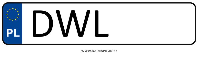 Rejestracja DWL, miasto Wołów