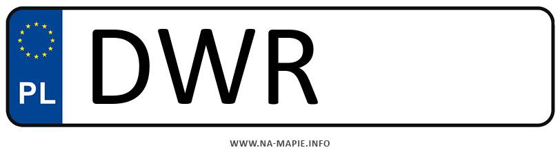 Rejestracja DWR, miasto Wrocław powiat