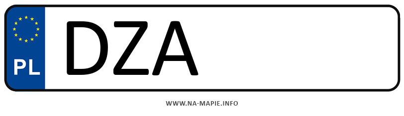 Rejestracja DZA, miasto Ząbkowice