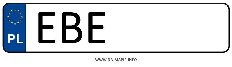 Rejestracja EBE, miasto Bełchatów