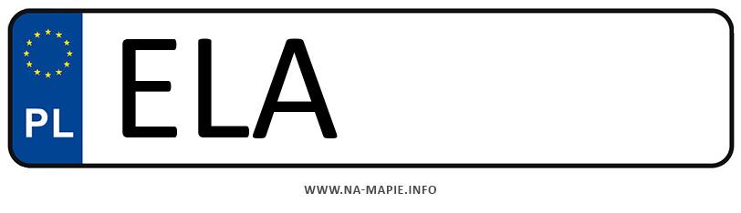 Rejestracja ELA, miasto Łask
