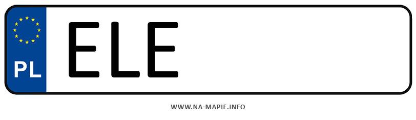 Rejestracja ELE, miasto Łęczyca