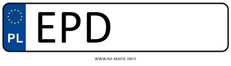 Rejestracja EPD, miasto Poddębice