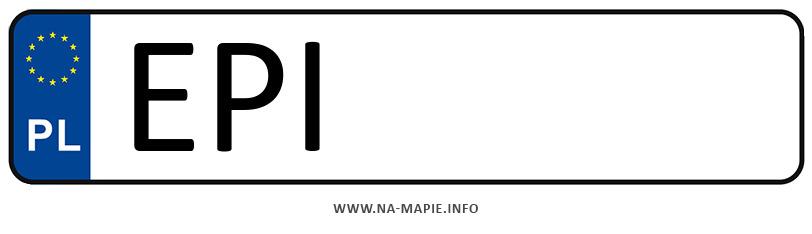 Rejestracja EPI, miasto Piotrków Trybunalski powiat