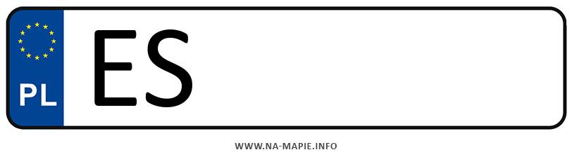 Rejestracja ES, miasto Skierniewice