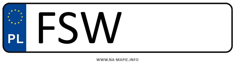 Rejestracja FSW, miasto Świebodzin