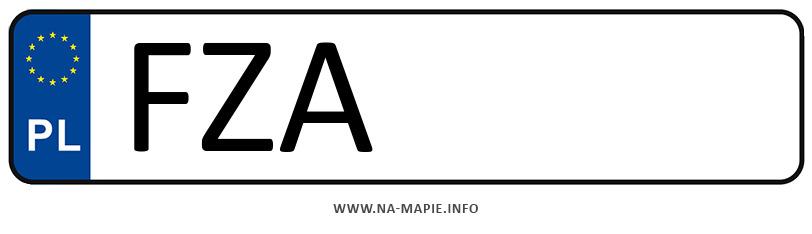 Rejestracja FZA, miasto Żary