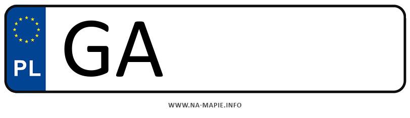 Rejestracja GA, miasto Gdynia
