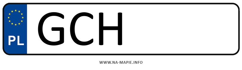 Rejestracja GCH, miasto Chojnice