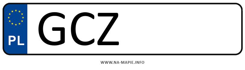 Rejestracja GCZ, miasto Człuchów