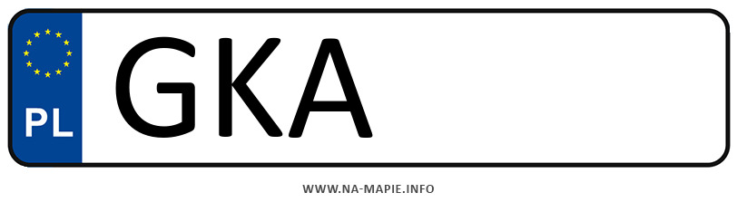 Rejestracja GKA, miasto Kartuzy