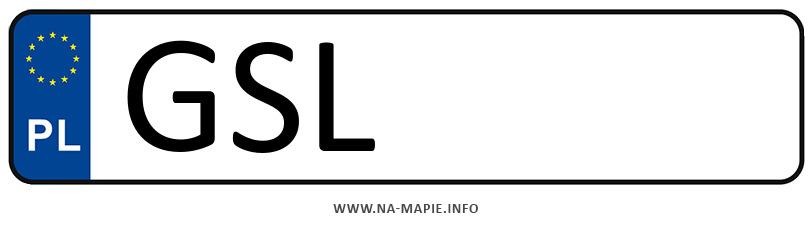 Rejestracja GSL, miasto Słupsk powiat