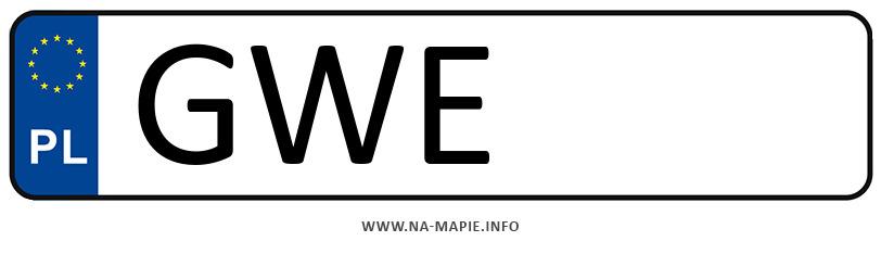 Rejestracja GWE, miasto Wejherowo
