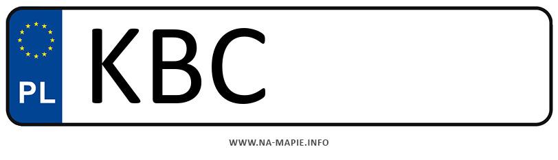 Rejestracja KBC, miasto Bochnia
