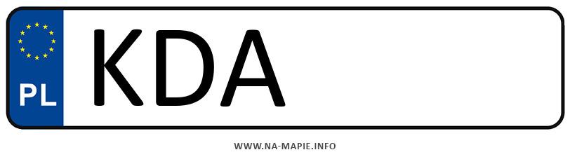 Rejestracja KDA, miasto Dąbrowa Tarnowska