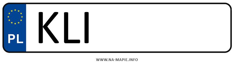 Rejestracja KLI, miasto Limanowa