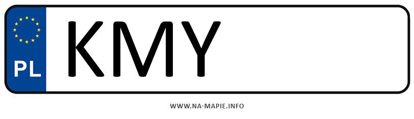Rejestracja KMY, miasto Myślenice