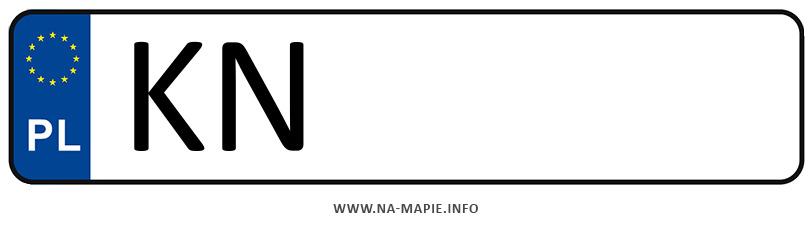 Rejestracja KN, miasto Nowy Sącz