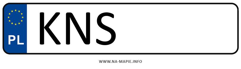 Rejestracja KNS, miasto Nowy Sącz powiat
