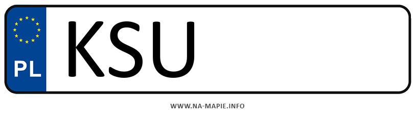 Rejestracja KSU, miasto Sucha Beskidzka