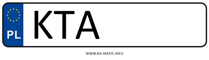 Rejestracja KTA, miasto Tarnów powiat